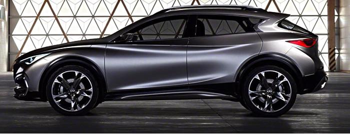 Le SUV QX30, prévu pour 2016