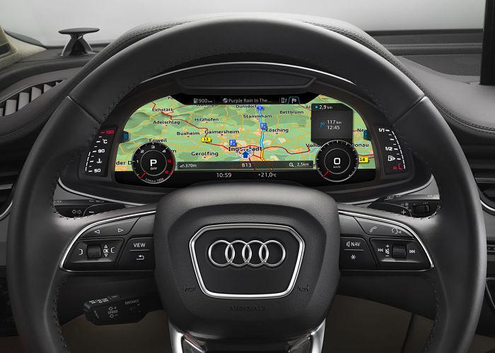 Here Maps dans le Virtual Cockpit d'Audi