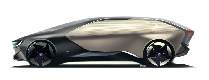 Illustration : Vision de la BMW i6 par le designer Chris Lee. https://www.pinterest.com/pin/372391462911554208/