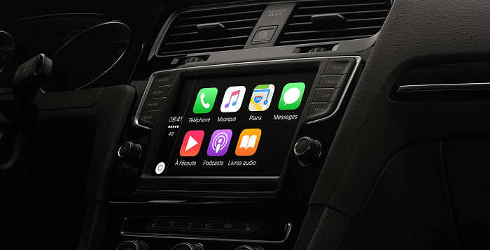 Apple CarPlay dans une Volkswagen Golf 7