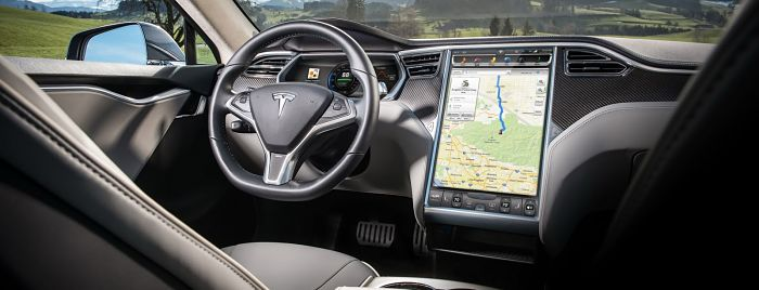 Tesla la model 3 pour mars le mirroring pour mi 2016 for Interieur tesla model s