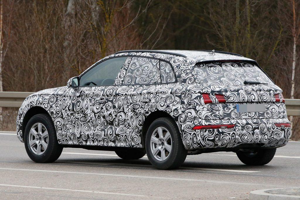 Un prototype d'Audi Q5 dépourvu de pots d'échappement