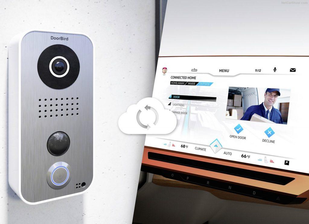 Volkswagen Budd-e concept / Surveillance du domicile via le cloud