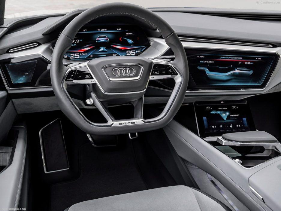 Tableau de bord virtuel de l'Audi e-tron quattro concept