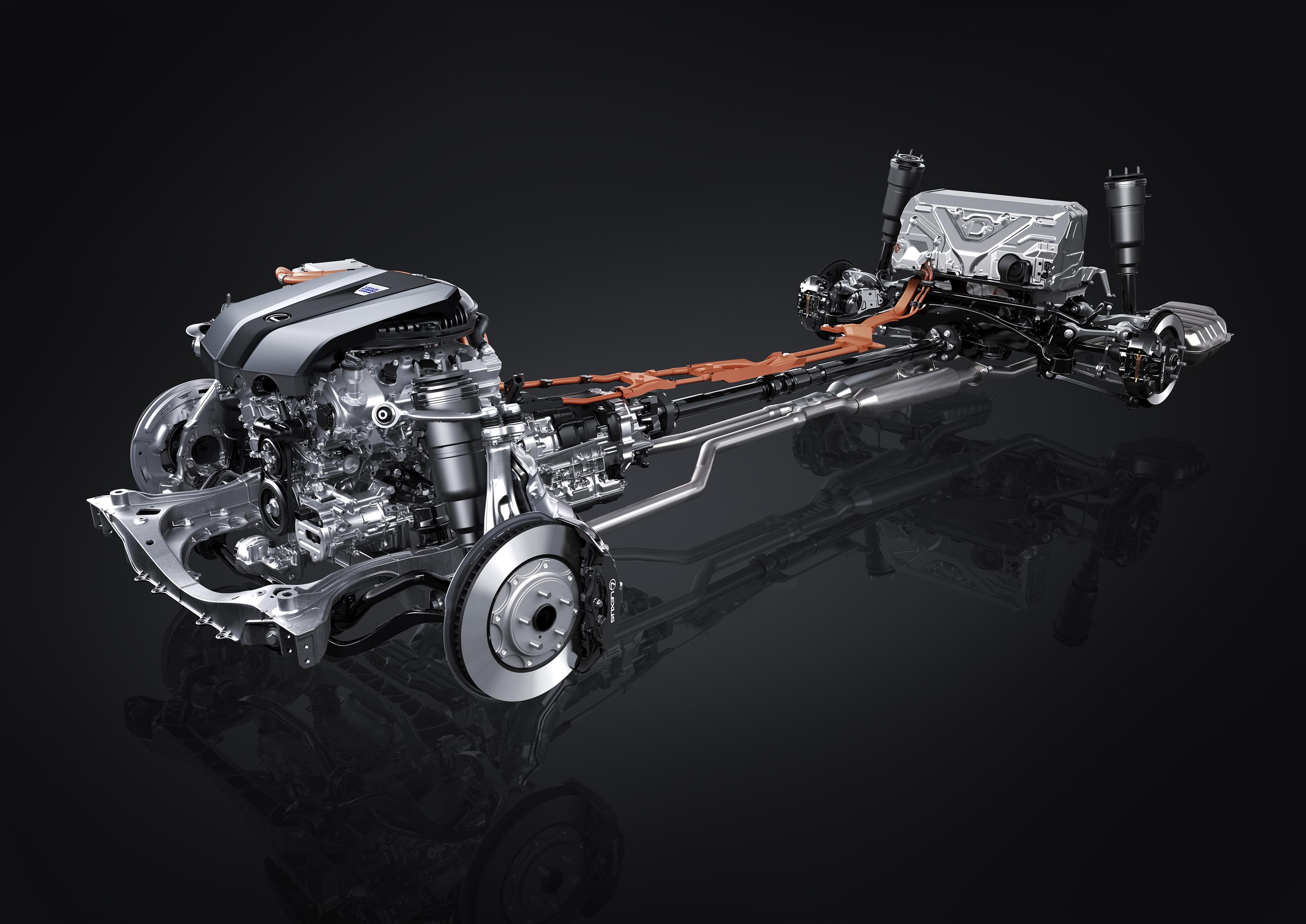 Lexus LS 500h Powertrain