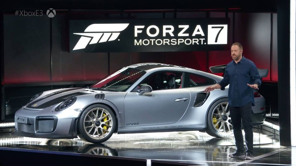 911 GT2 RS microsoft xbox forza 7 conference